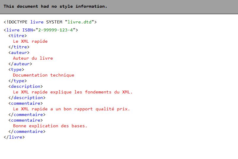 Utilisation De Xml